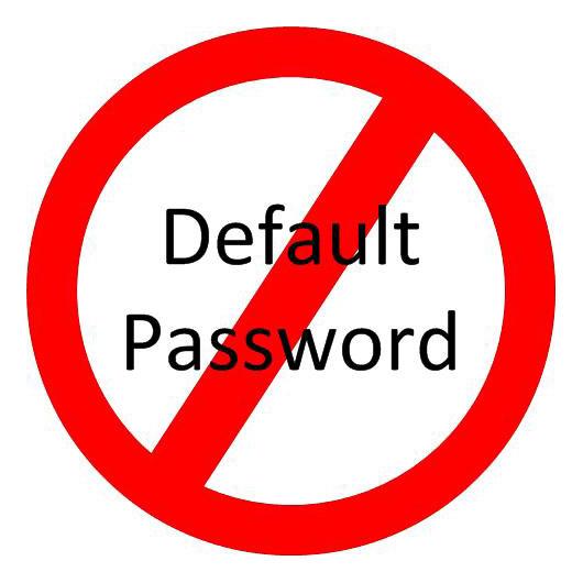 No Default Passwords