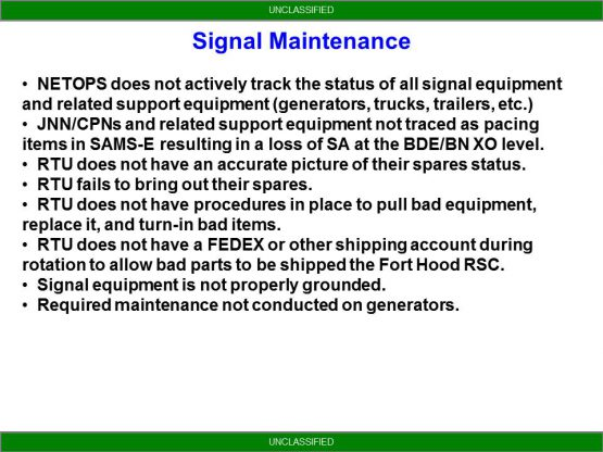 NETOPS Trends From NTC - Signal Maintenance