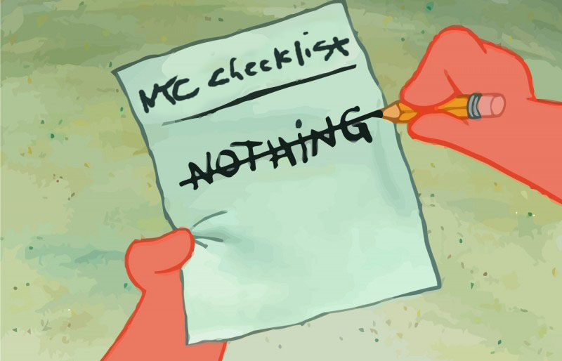 The NTC Checklist